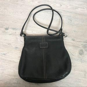 Fossil Small Black Leather Crossbody Bag/Purse